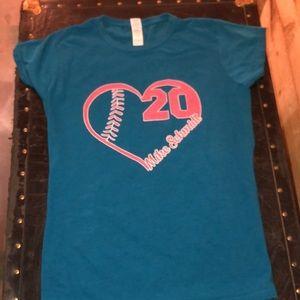 Philadelphia Phillies Mike Schmidt I ❤️ 20.Size L.